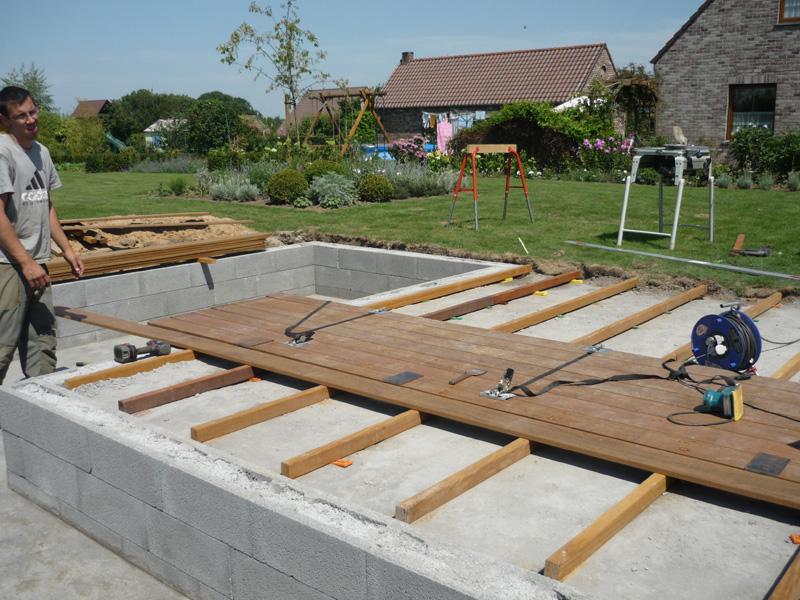 Construction terrasse bois  Jardins Du Pays Vert